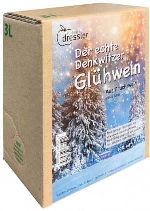 DRESSLER »Der echte Denkwitzer« Glühwein 10 Vol.% 3 L Bag-in-Box