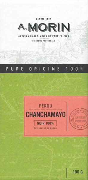 A. MORIN | Dunkle Schokolade Peru »Chanchamayo« 100%