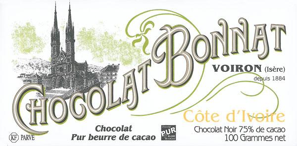BONNAT Schokolade | Chocolat »Cote d Ivoire« 75%