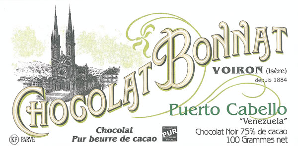 BONNAT Schokolade   Chocolat »Puerto Cabello« 75%