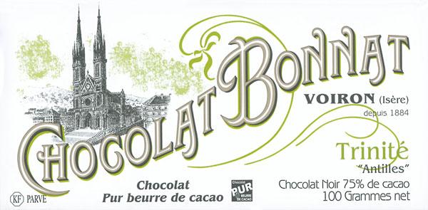 BONNAT Schokolade   Chocolat  »Trinite« 75%