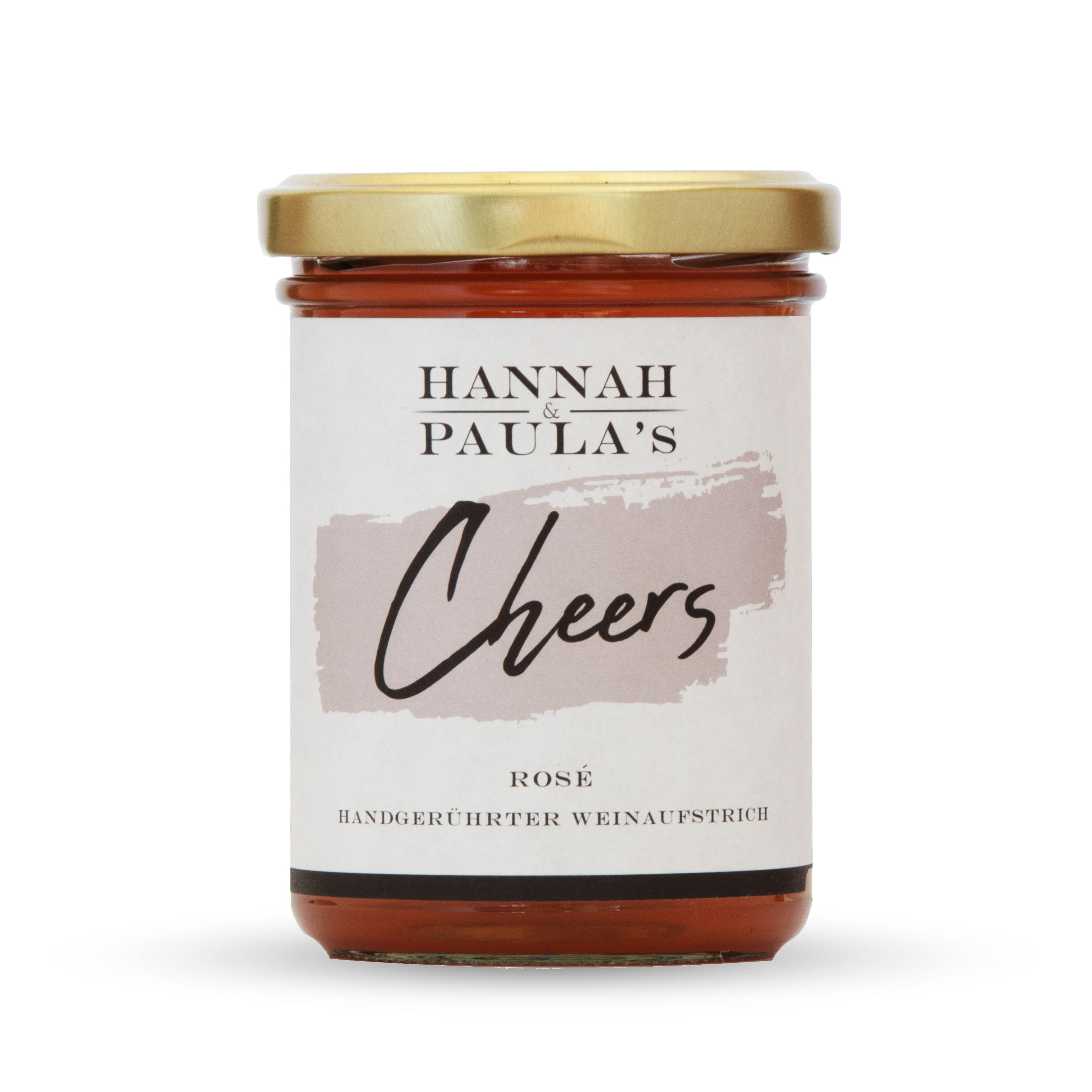 HANNAH & PAULAS Handgerührter Weinaufstrich »Cheers Rosé«